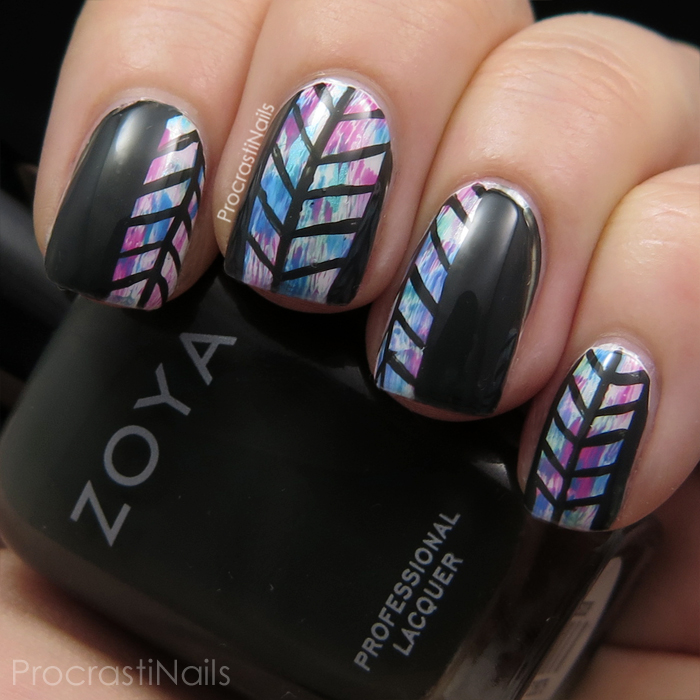 Coachella inspired herringbone nails with zoya and cnd vinylux herringbone and dry brush nail art with zoya noot and cnd vinylux garden muse shades prinsesfo Images