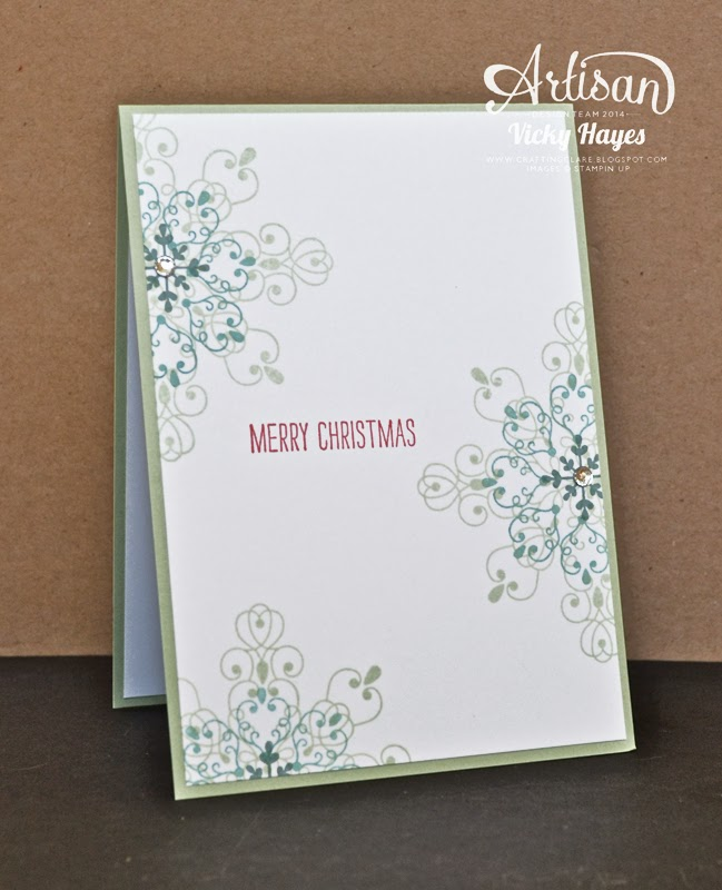 Snowflakes using Letterpress Winter by Stampin' Up