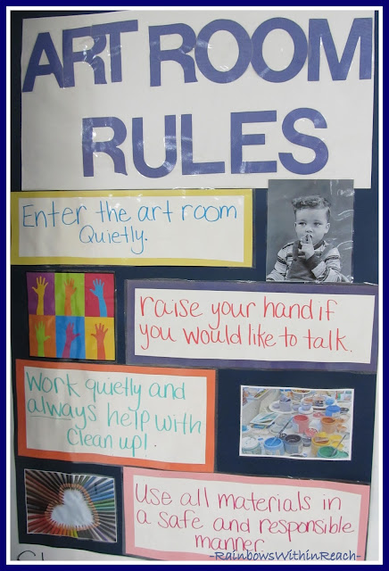 photo of: Art Room Rules via RainbowsWithinReach