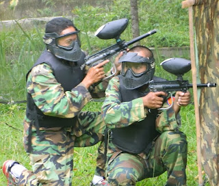 Outbound Paintball Games di Villa Roso Mulyo