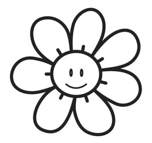 Flores en blanco y negro para colorear - Imagui