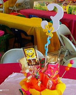 SpongeBob centerpieces decoration for children parties