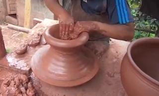 Elaboracion artesanal de macetas de barro - macetero de barro - maceta de arcilla