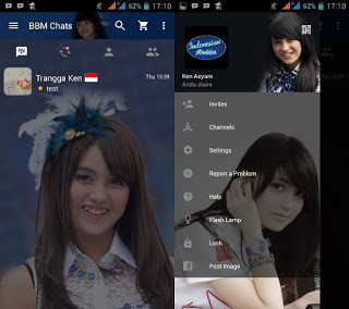 that has passed the change of course of teaching inward damage of changing the display background  Download Mod, BBM Thema Nabilah JKT48 Newest Version 2.11.0.16
