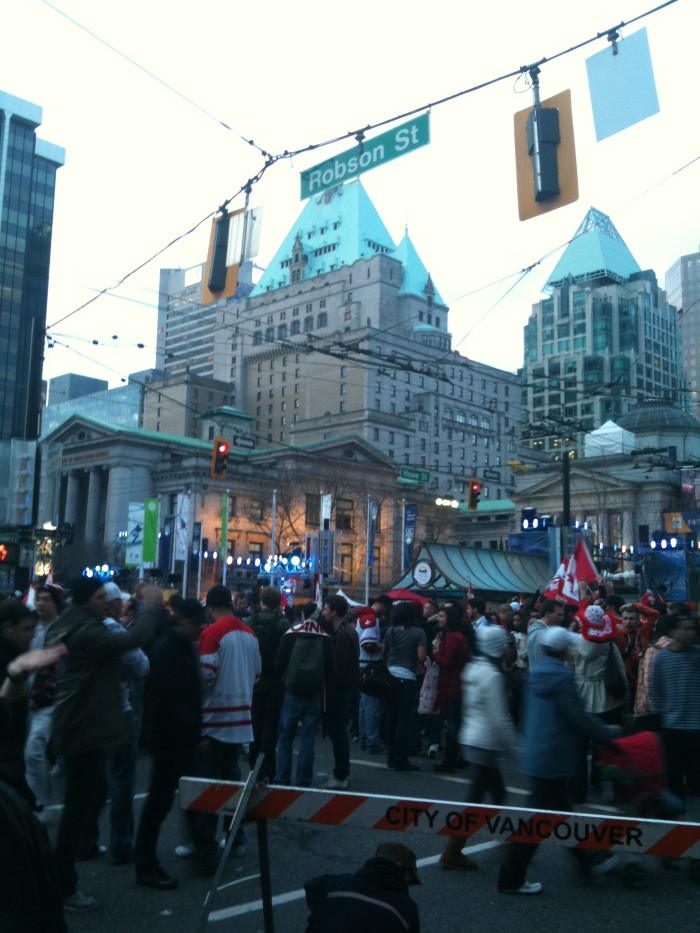 Robson Street, Vancouver Olympics