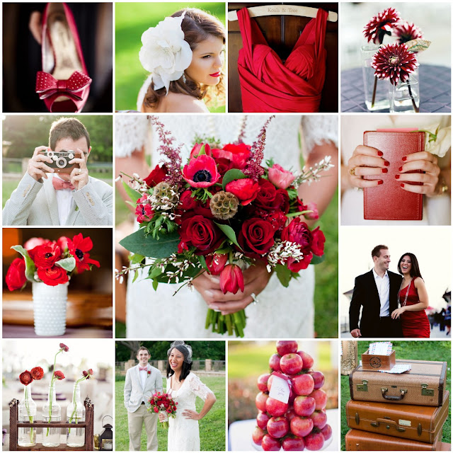 red fall wedding colors