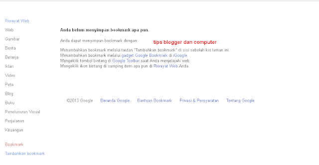 google bookmark dofollow terbaik dari goolge