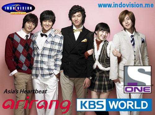Daftar paket acara dan channel Korea di Indovision.