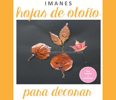 Manualdiades infantiles: Hojas de otoño con imanes
