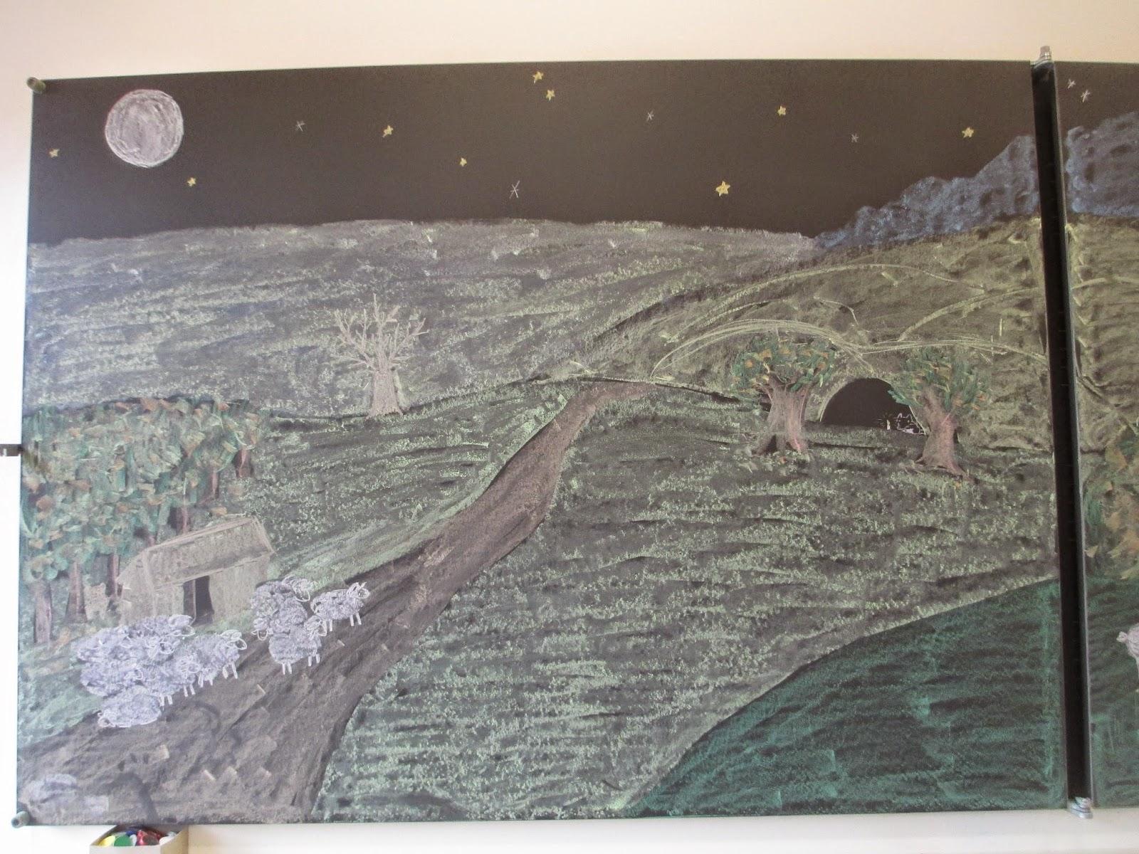 gezeichnetes Bild für den Kindergarten