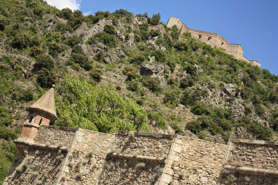 Fort Liberia and the walls of Villefranche de Conflent