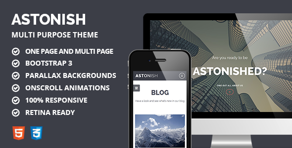 Astonish - Multipurpose Responsive Parallax Theme