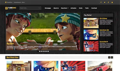 Template TubeMag Para Blog de Videos