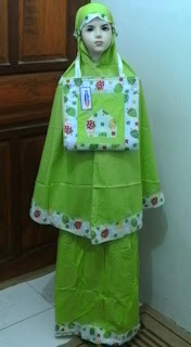 Mukena Anak STRAWBERRY-01 Hijau