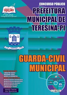 Apostila Concurso SEMGOV Guarda-Civil Municipal de Teresina 2015.
