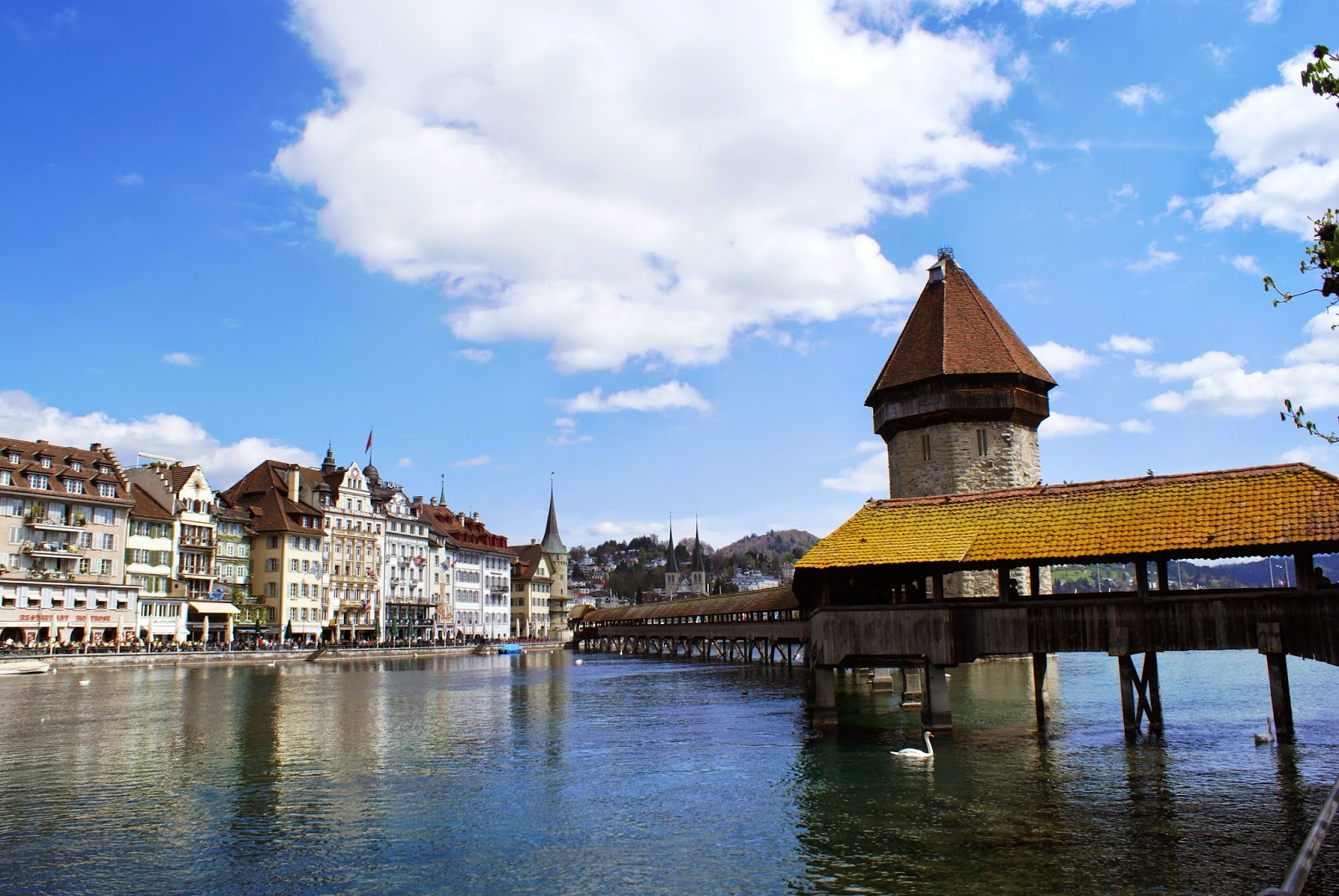 Wooden Bridge Lucerne, Switzerland