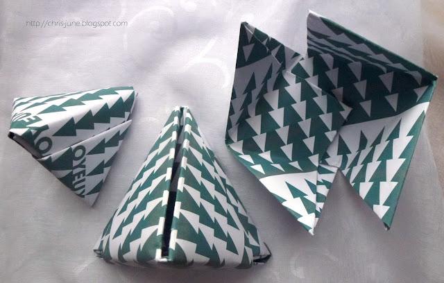Origami Tetraeder-Schachteln Geschenkverpackung