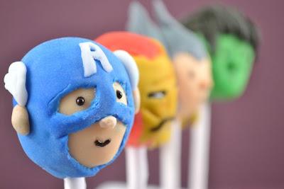 Simple Avengers Cake Pops