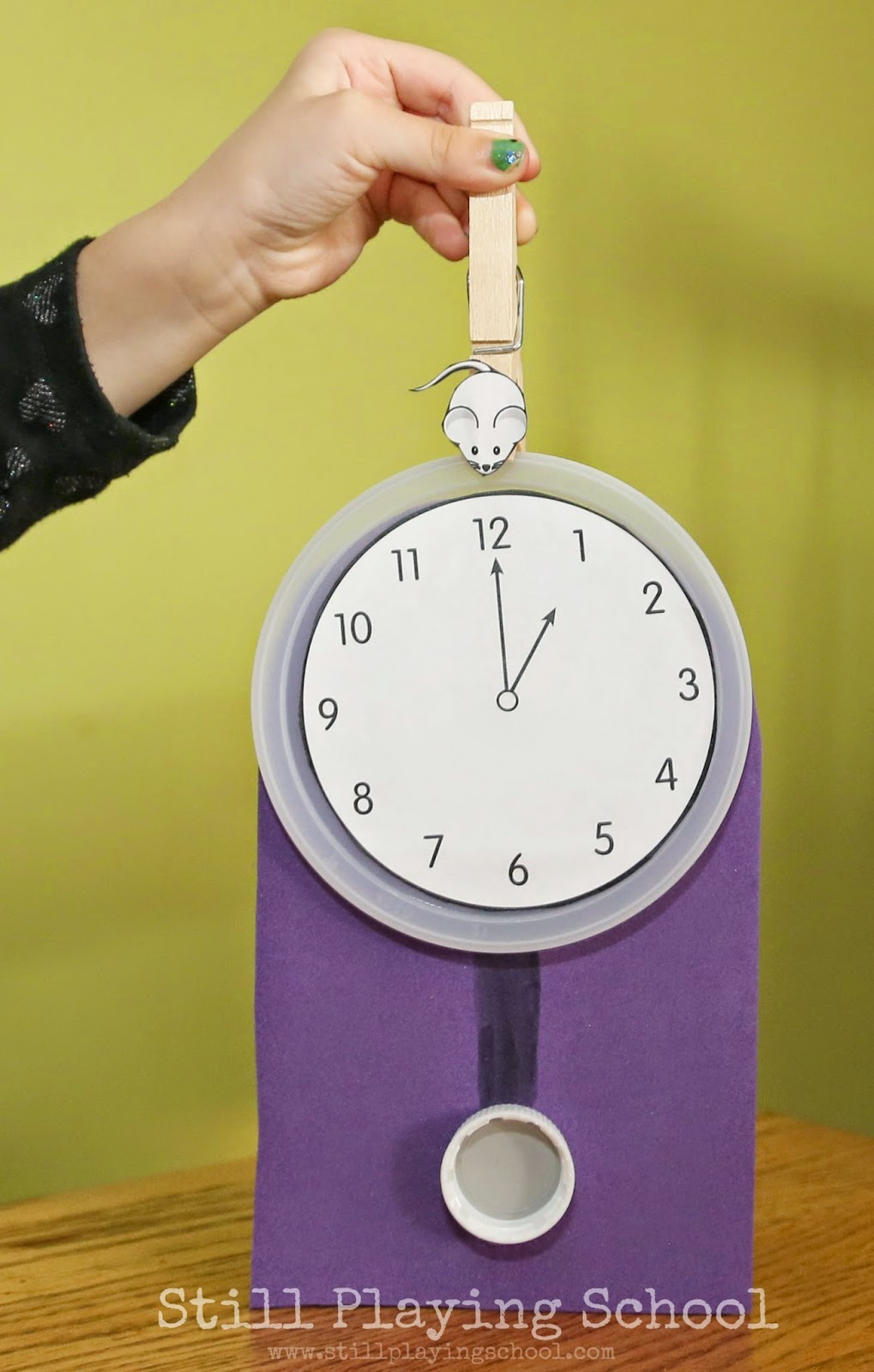 hickory dickory dock clock craft  u0026 time telling activity