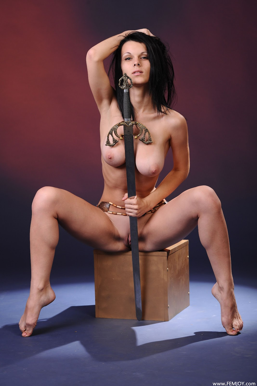 Cute dark skin female warrior sword nude  pron tubes