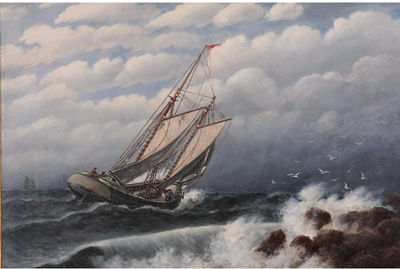 "Francis J. Quirk  ""Sailboat""  Painting"