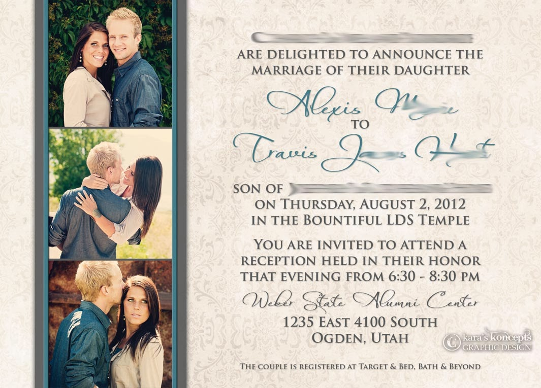 Lexi Travis 5x7 Wedding Invitation
