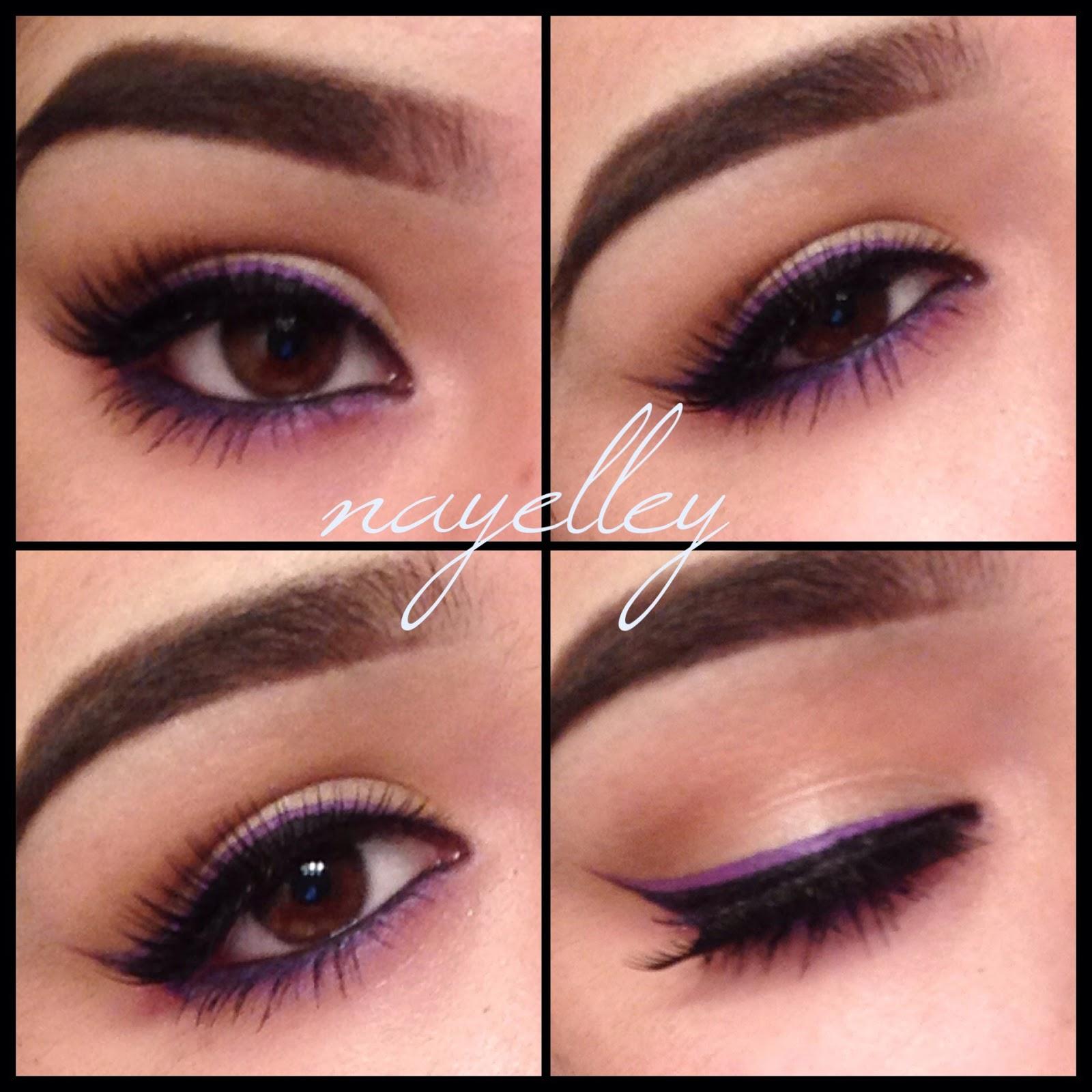 Makeup By Nayelley Brown Eye Girl Series Purple Double Winged Eyeliner