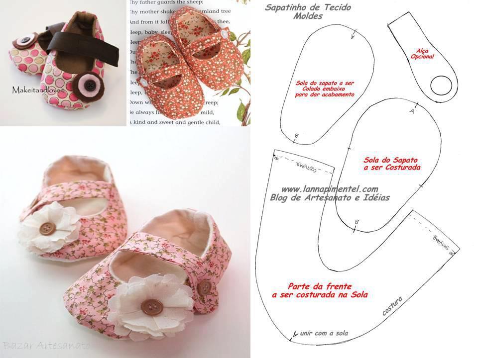 Сшить туфельки для куклы 85