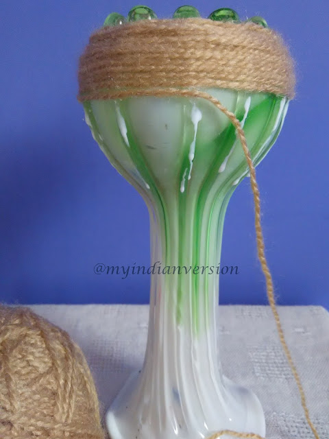 Diy : Yarn Wrapped Vase Tutorial - Step 3