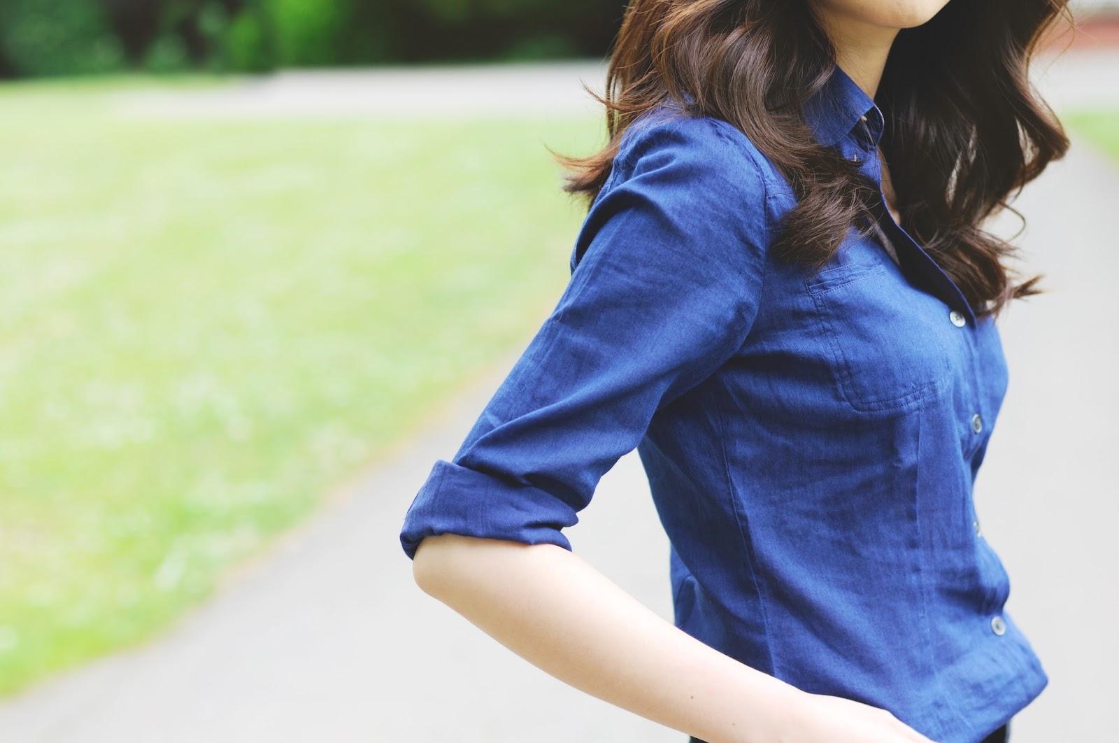 navy blue barbour shirt