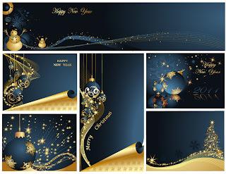 豪華なクリスマスの背景 christmas luxury elements vector イラスト素材