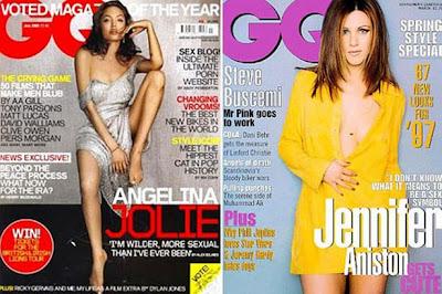Jennifeer Ansiton and Angelina Jolie in GQ