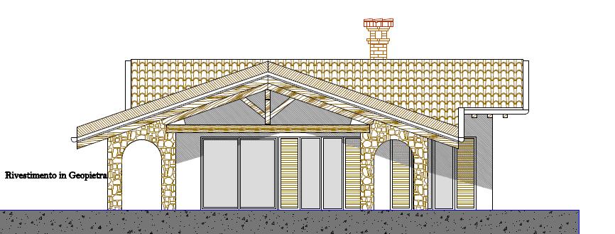 Progetti di case in legno casa 100 mq portico 37 mq for Progetti di portico in mattoni per case