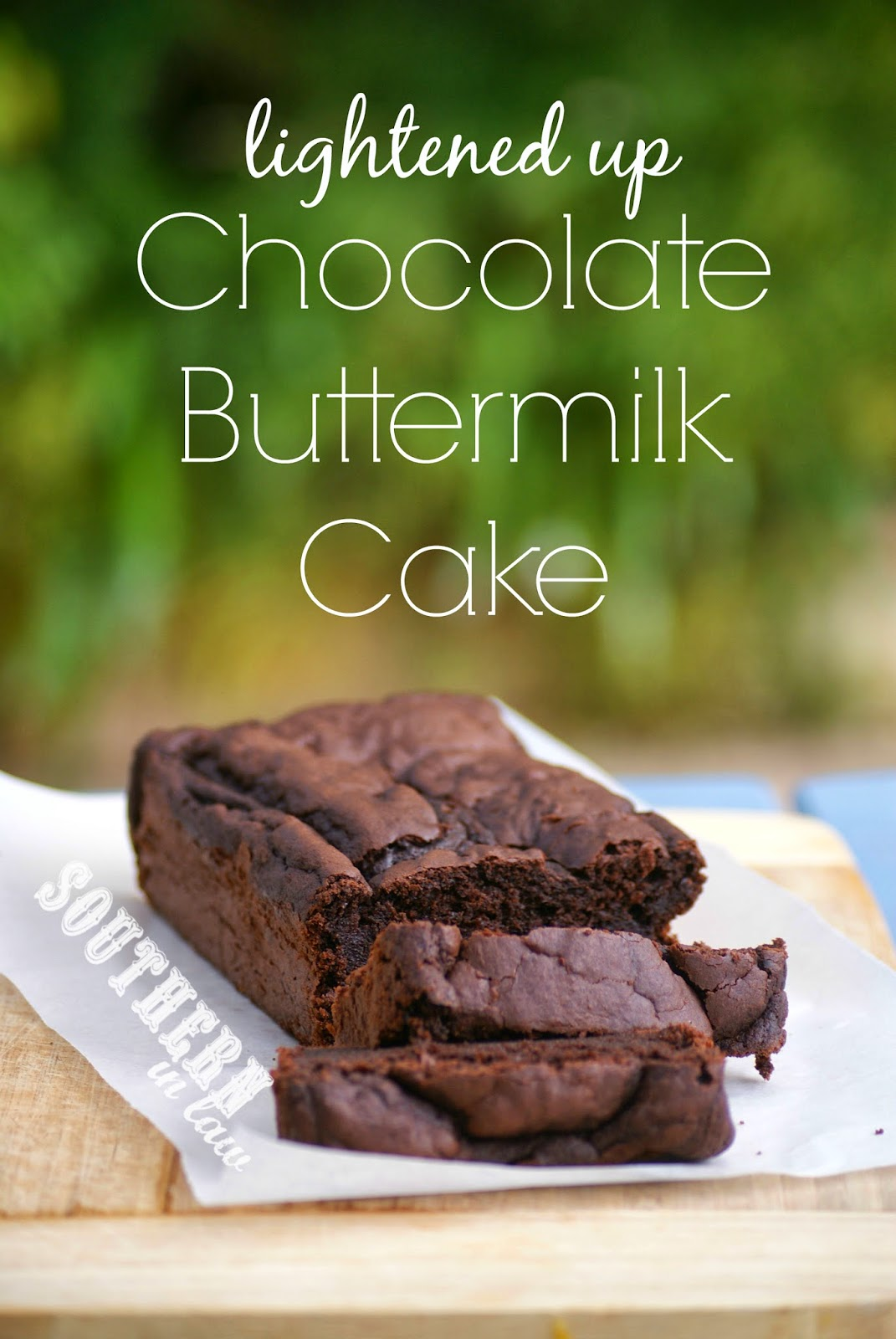 Healthy Buttermilk Chocolate Cake Recipe - Gluten Free, Low Fat, Low Sugar, Healthier, Lightened Up, Skinny Recipe