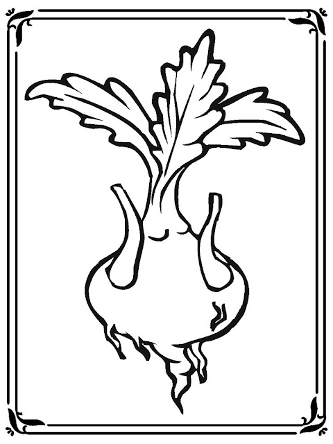 turnip coloring pages