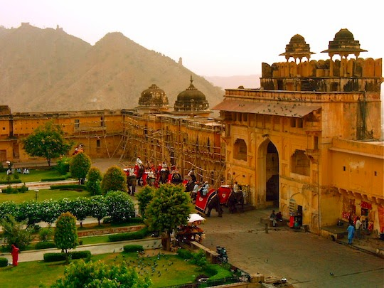 Courtyard of the Amber Fort in Jaipur