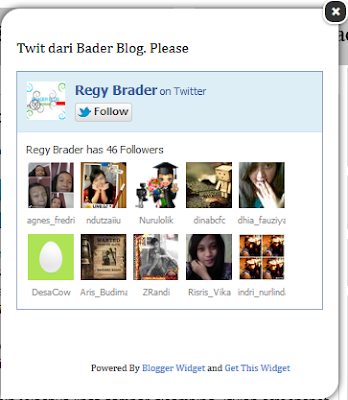 Cara Membuat Widget Follow Me Box Twitter Melayang di Blog
