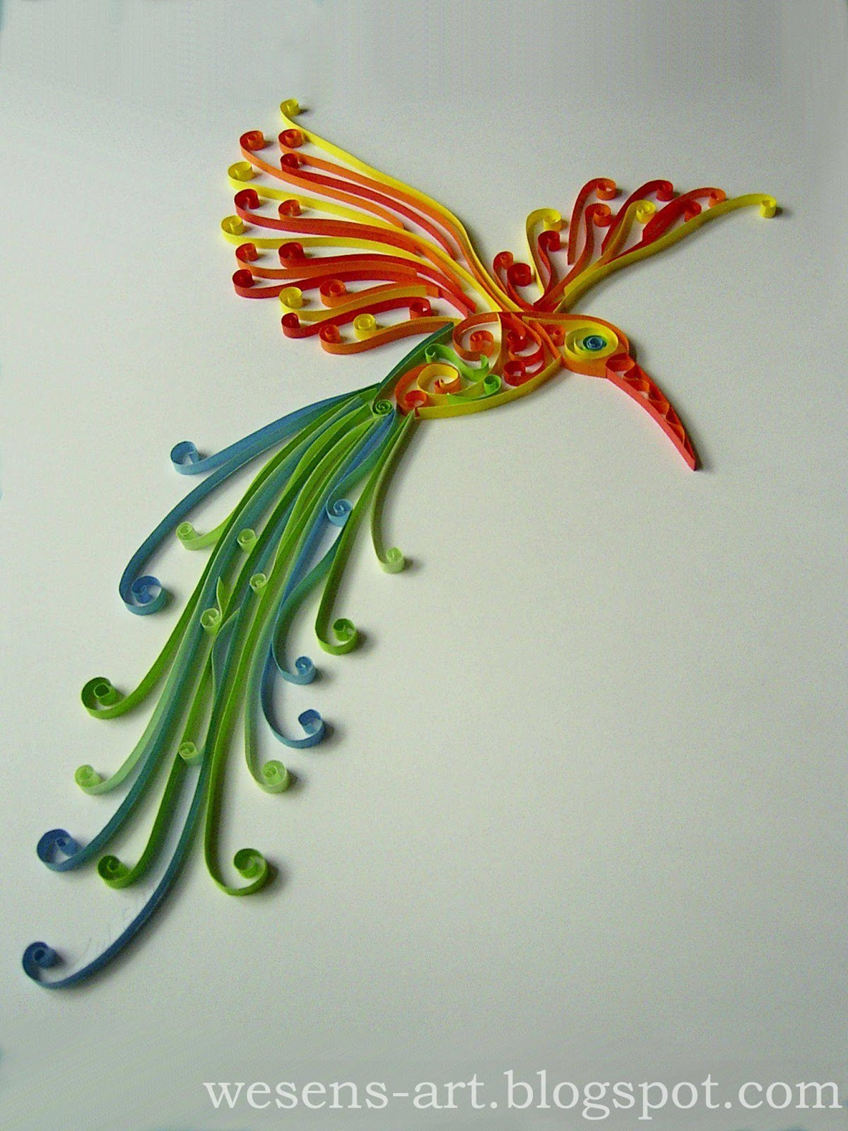 Wesens art quilling vogel quilling bird for How to quilling art
