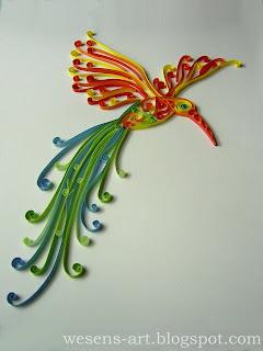 Quilling Bird 1   wesens-art.blogspot.com