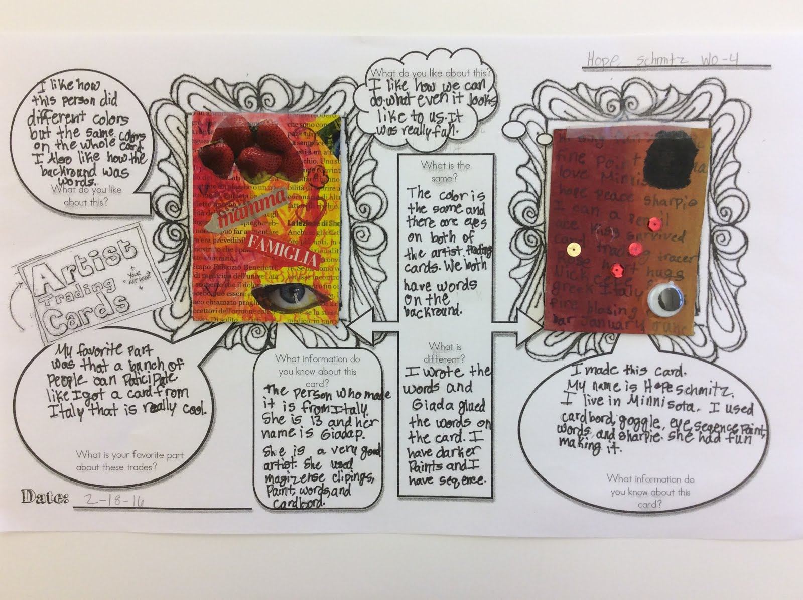 mini matisse art reflection artist trading cards. Black Bedroom Furniture Sets. Home Design Ideas