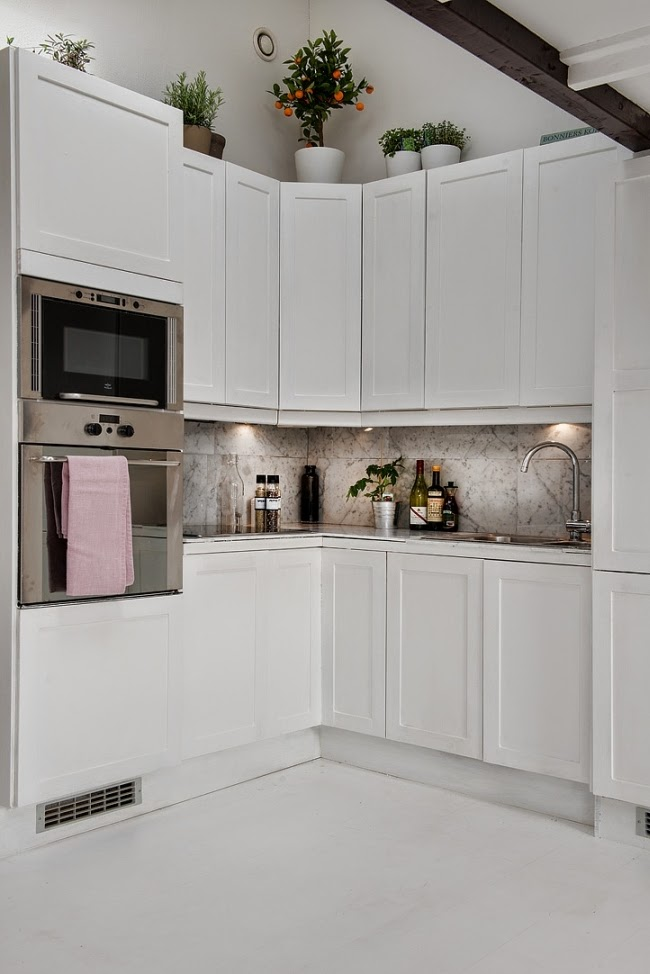 biała kuchnia, mała kuchnia, styl skandynawski