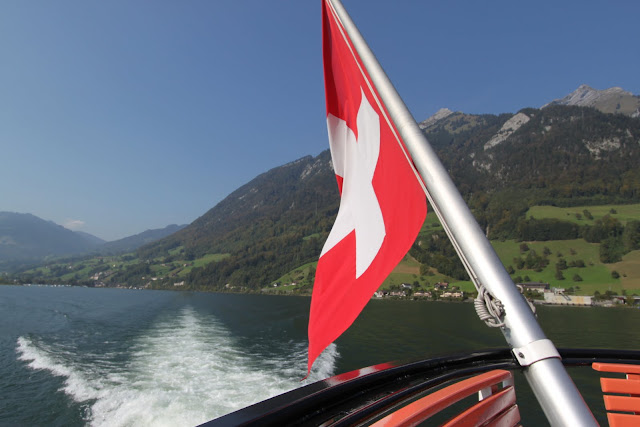 Ferry ride along Lake Lucerne in Lucerne, Switzerland