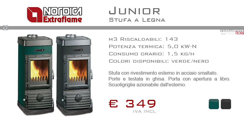 Ferramenta rossi nordica extrflame stufe a legna junior super junior - Stufe a legna nordica ...