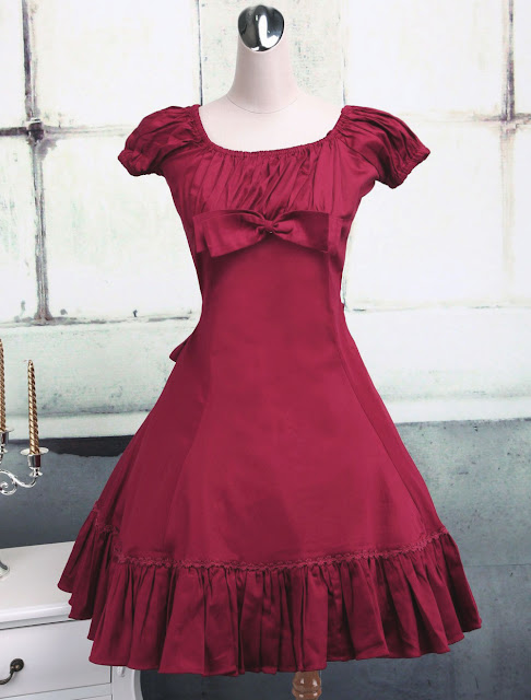 Fuchsia Red Ruffle Classic Lolita Dress