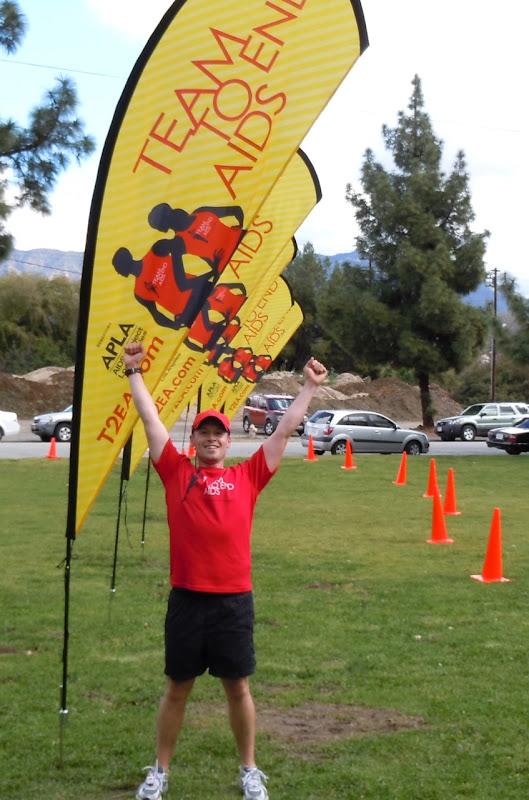 Jason Team To End AIDS runner