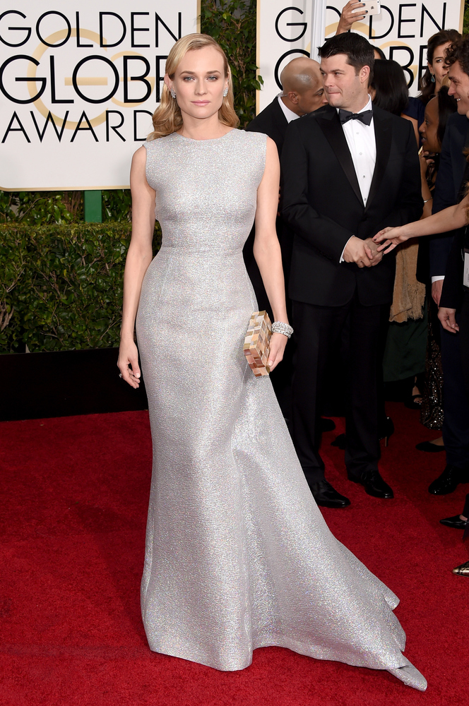 Diane Kruger in Emilia Wickstead at the Golden Globes