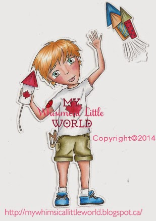 digi stamp, digital stamp, paola jofre, canada day, celebration, copic marker, coloring,cardmaking