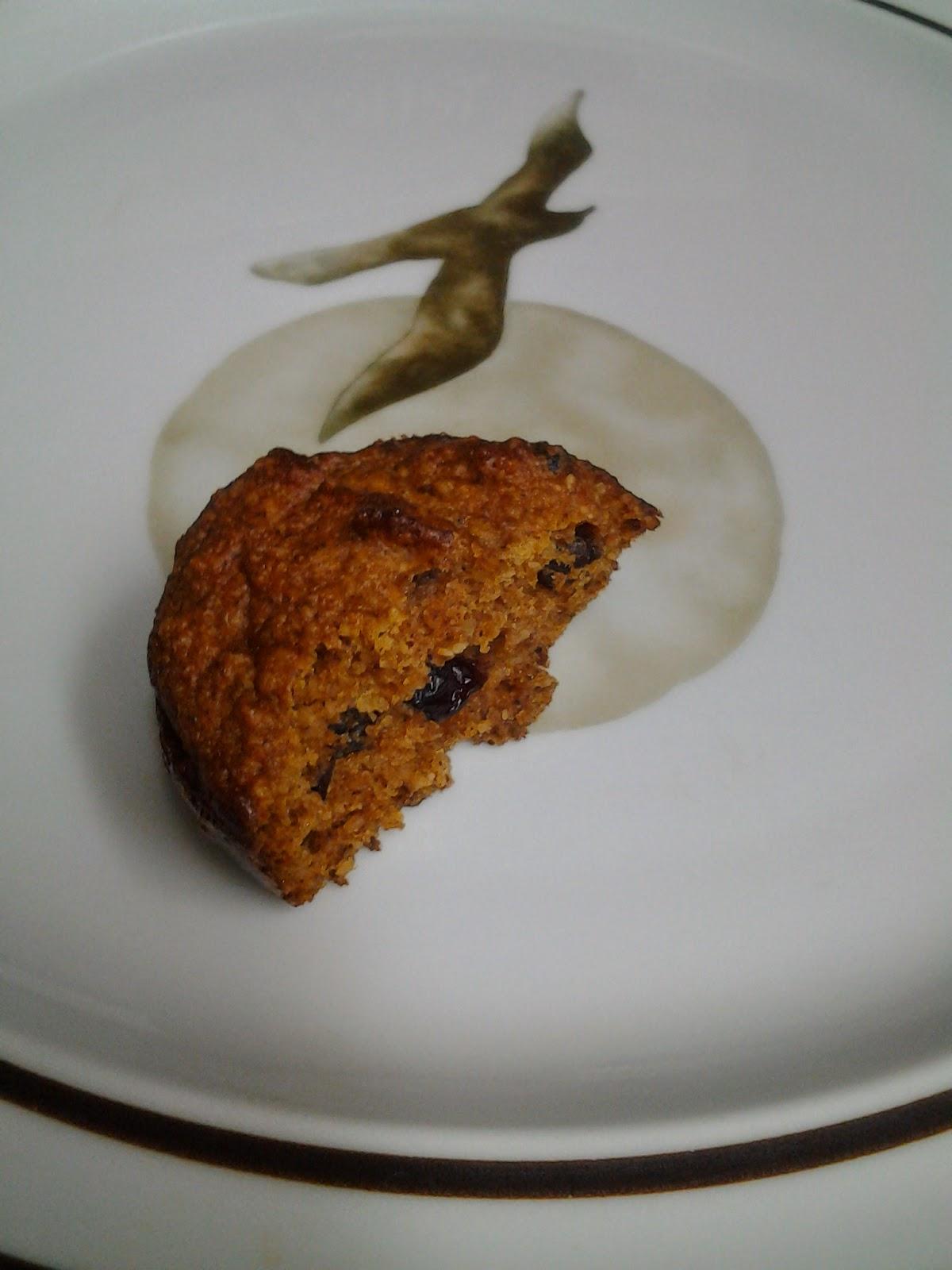 Grain-free pumpkin muffin