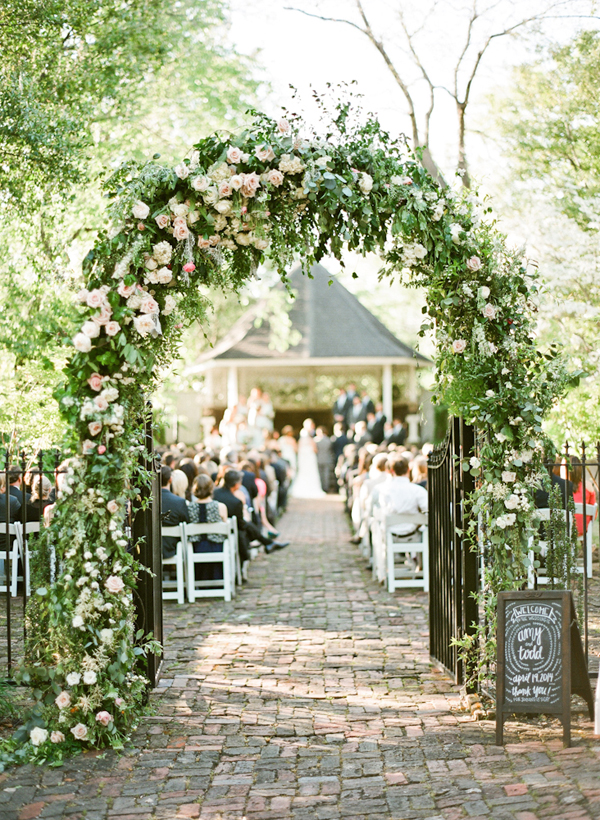 beyond the aisle: wedding inspiration: floral arches