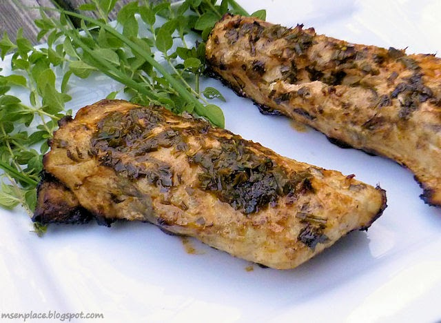 Grilled Herb Butter Redfish   Ms. enPlace